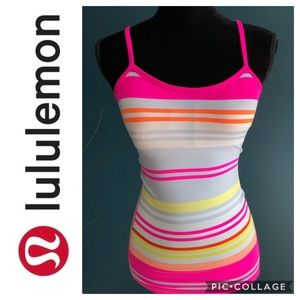 Lululemon Power Y Top in Raspberry Glo Groovy Pink